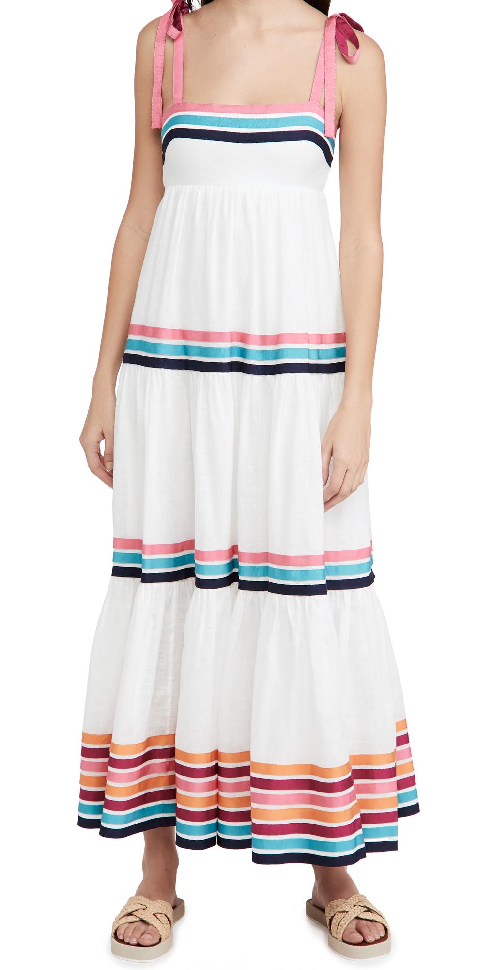Zimmermann Lulu Ribbon Tiered Dress