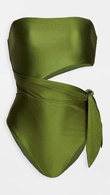 Zimmermann Brighton 围巾式绑带泳衣