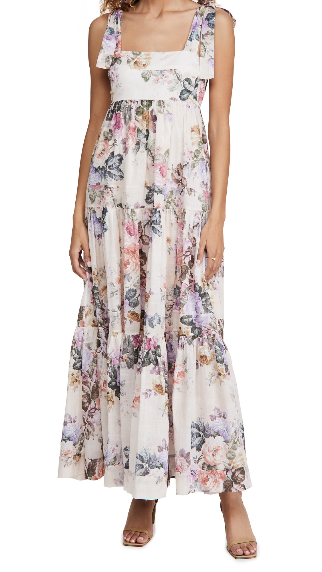 Zimmermann Brighton Tie Shoulder Dress