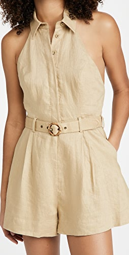 Zimmermann - Brighton Halter Neck Romper