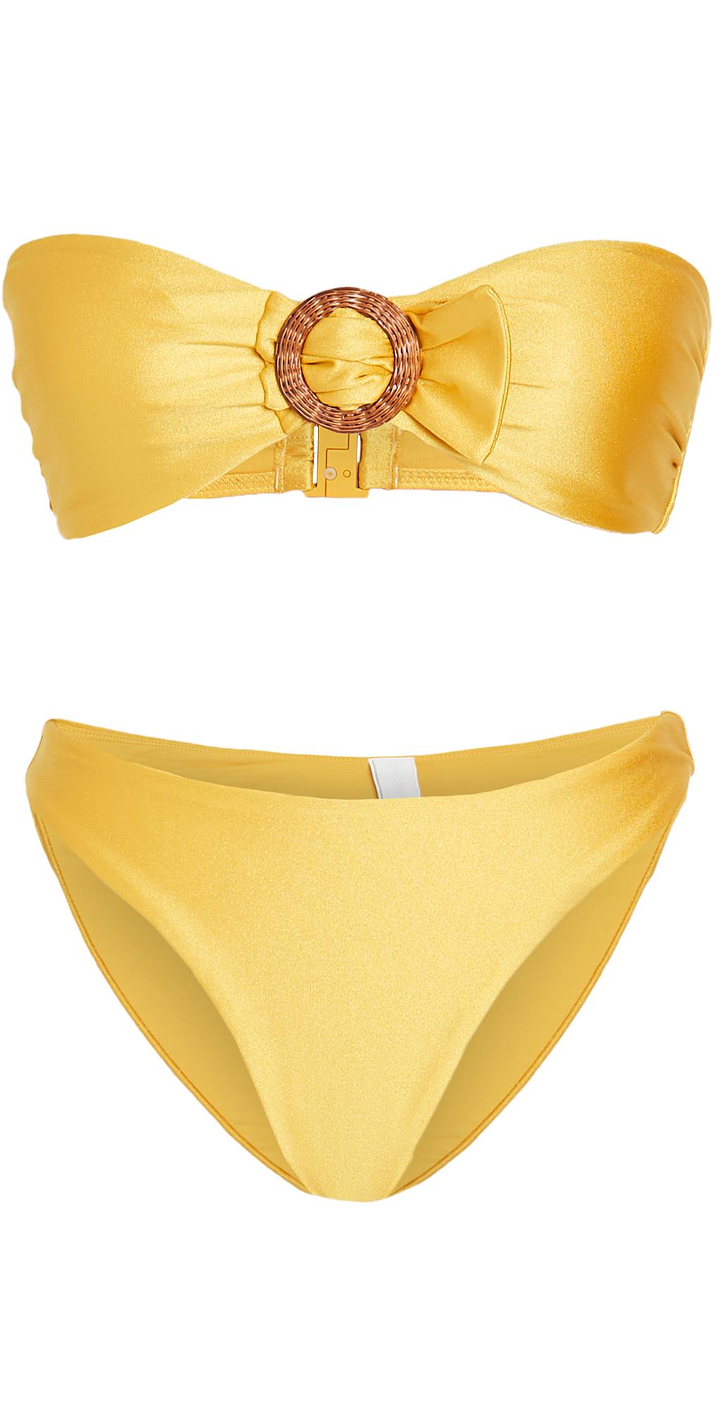 Zimmermann Brighton Buckle Bandeau Bikini Set
