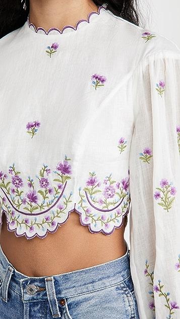 Zimmermann Poppy Floral Crop Top