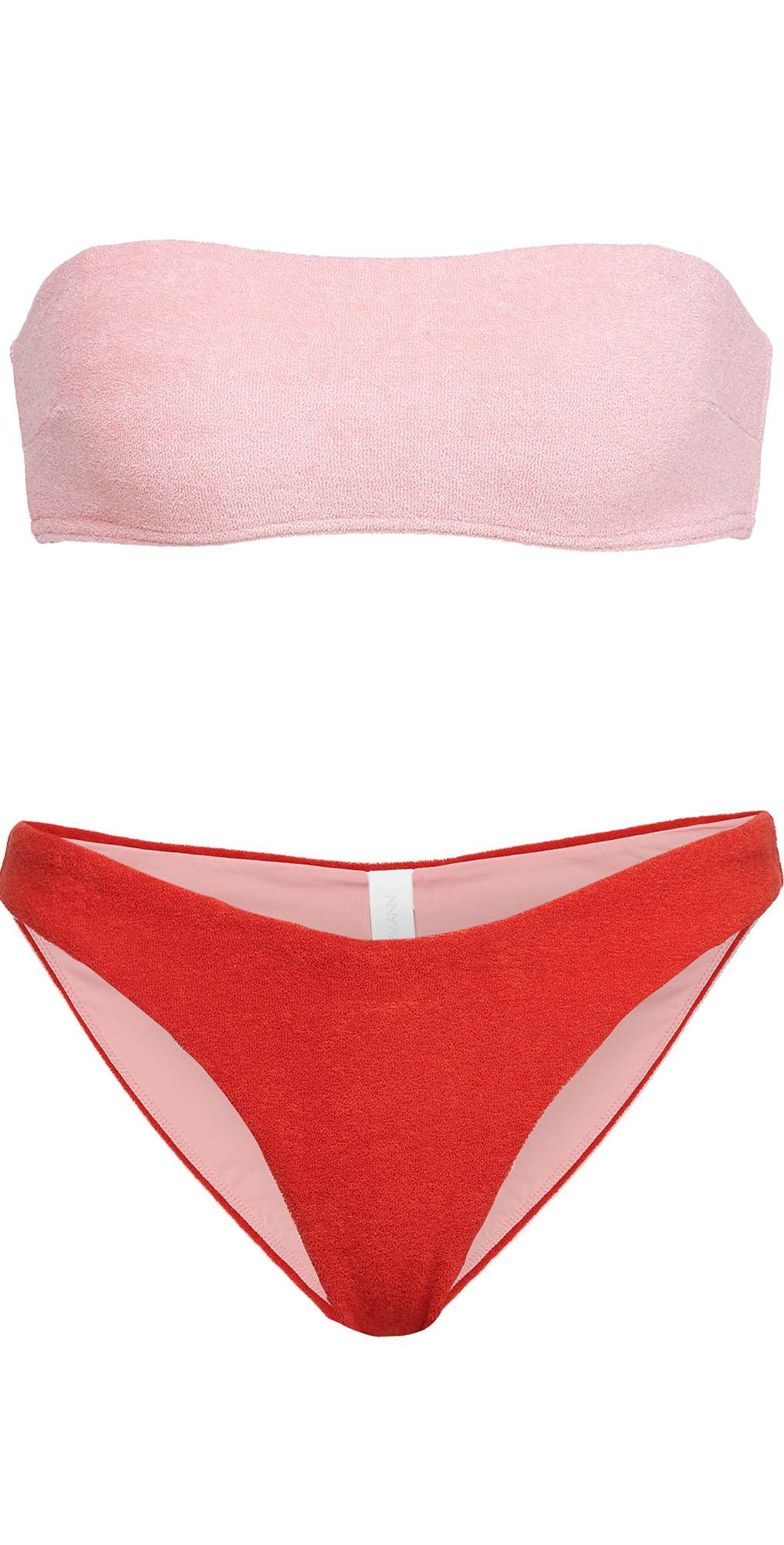 Zimmermann Poppy Terry Bandeau Bikini Set