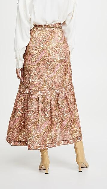 秋季新品上线 Brighton 流苏下摆中长半身裙