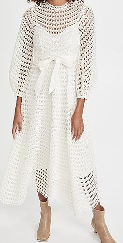 Zimmermann - Poppy Eyelet Midi Dress