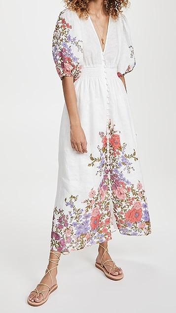 秋季新品上线 Poppy 抽褶腰部连衣裙