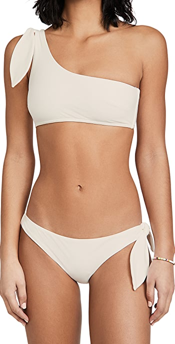 Zimmermann Riders Tie One Shoulder Bikini Set - Ivory