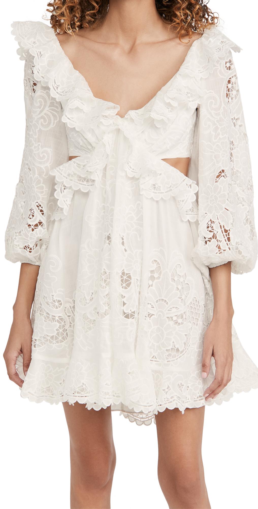 Zimmermann Lulu Scallop Mini Dress