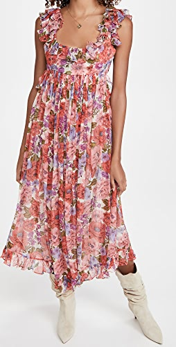 Zimmermann - Poppy Frill Edge Midi Dress