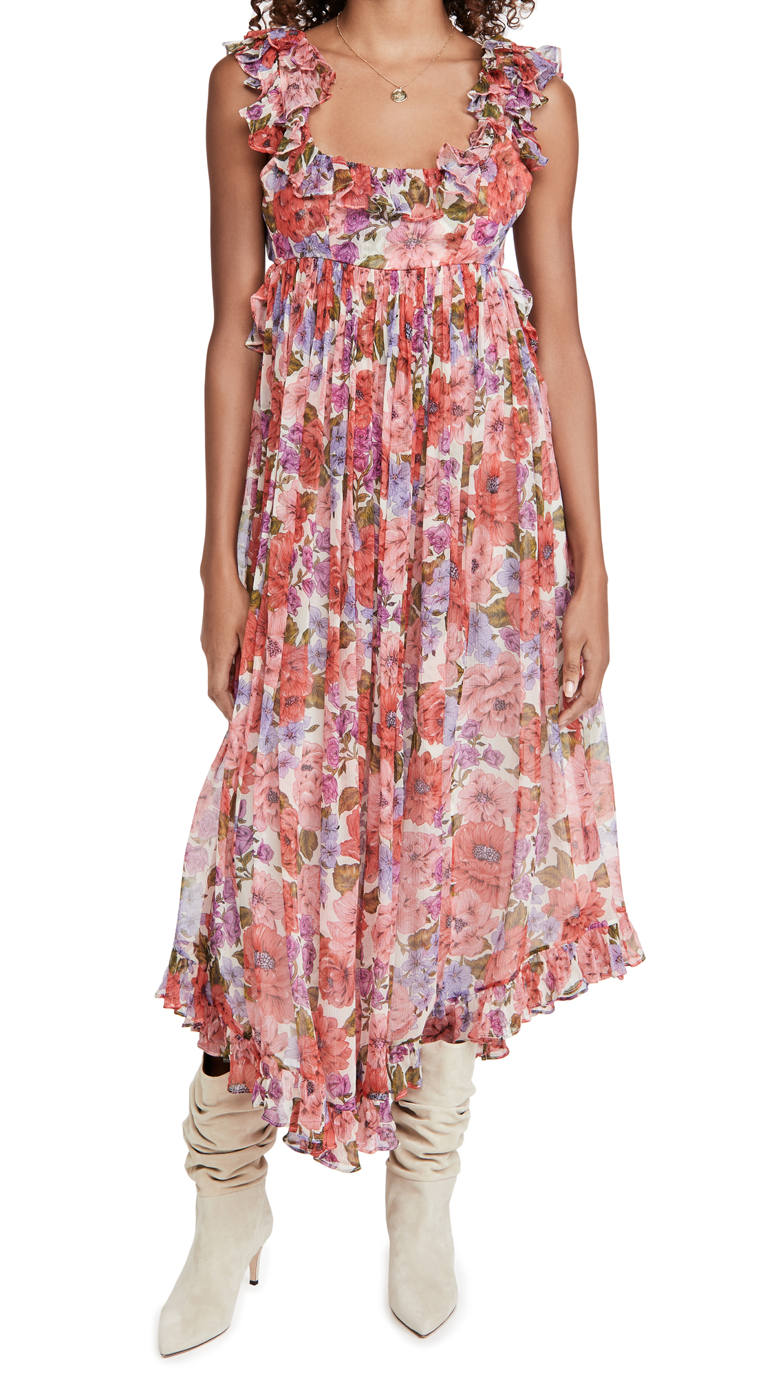 Zimmermann Poppy Frill Edge Midi Dress