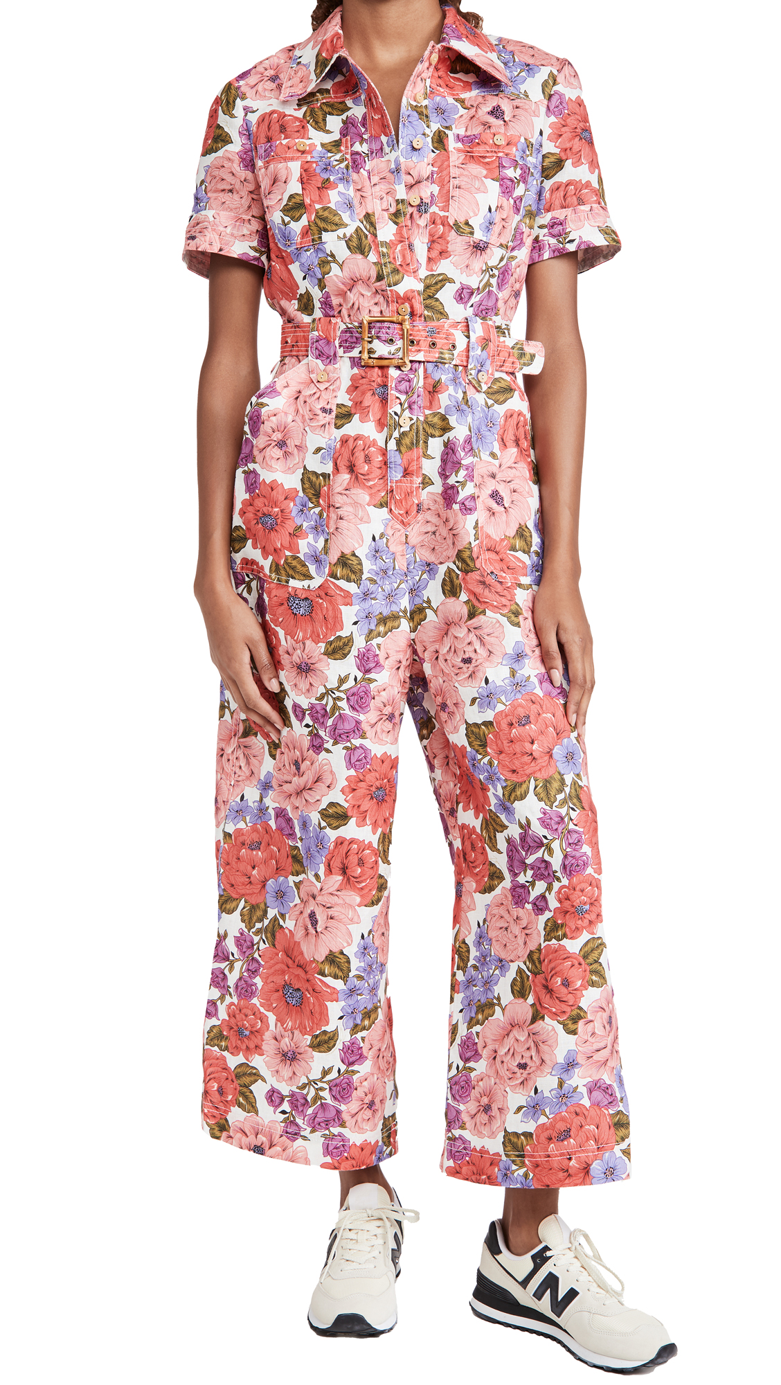 Zimmermann Poppy Belted Safari Jumpsuit