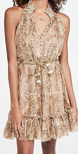 Zimmermann - Brighton Halter Short Dress