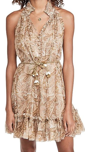 Zimmermann Brighton Halter Short Dress
