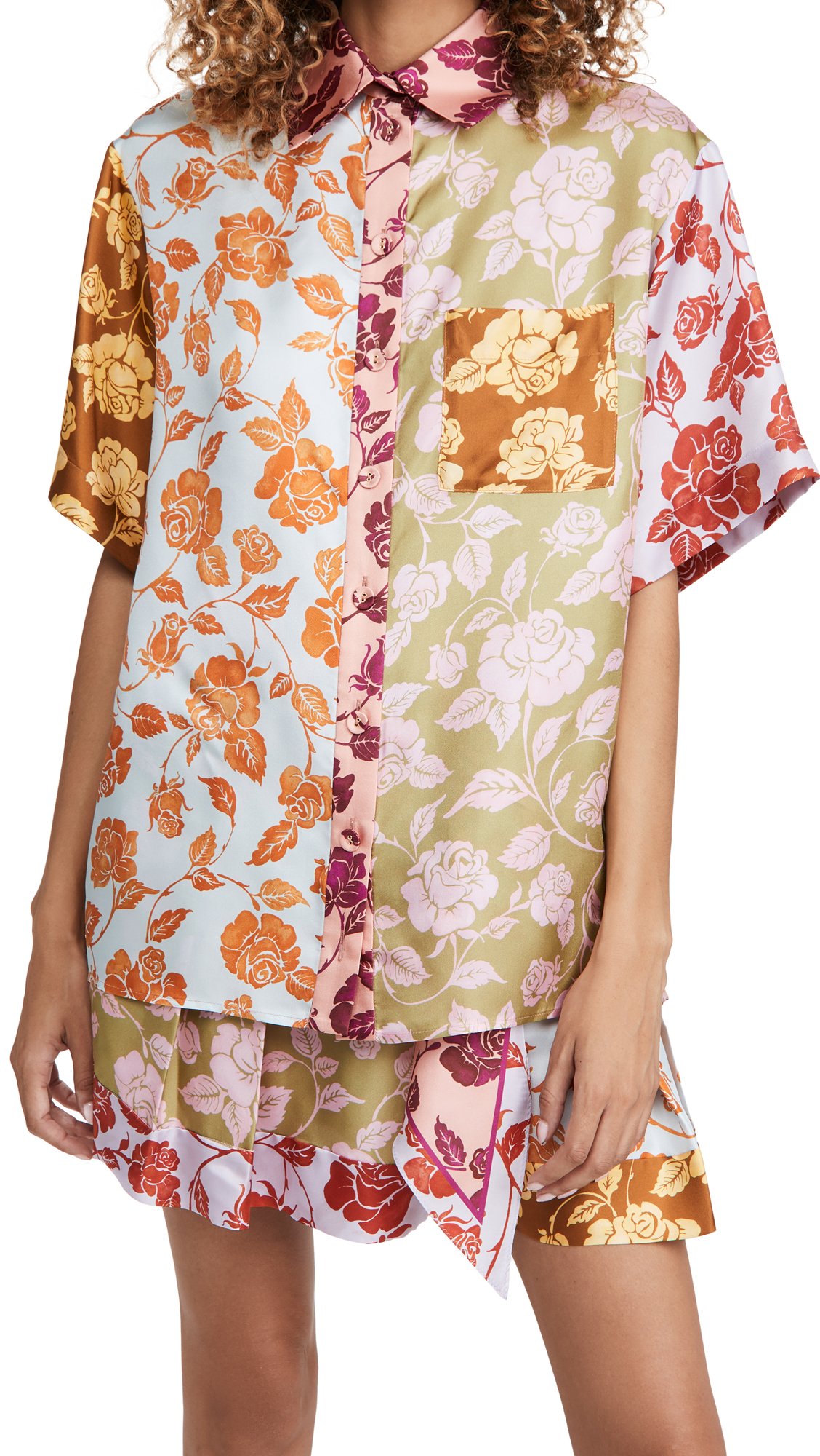 Zimmermann THE LOVESTRUCK SPLICED SHIRT