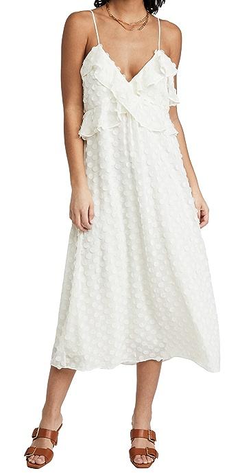 Zimmermann Textured Slip Dress - Pearl