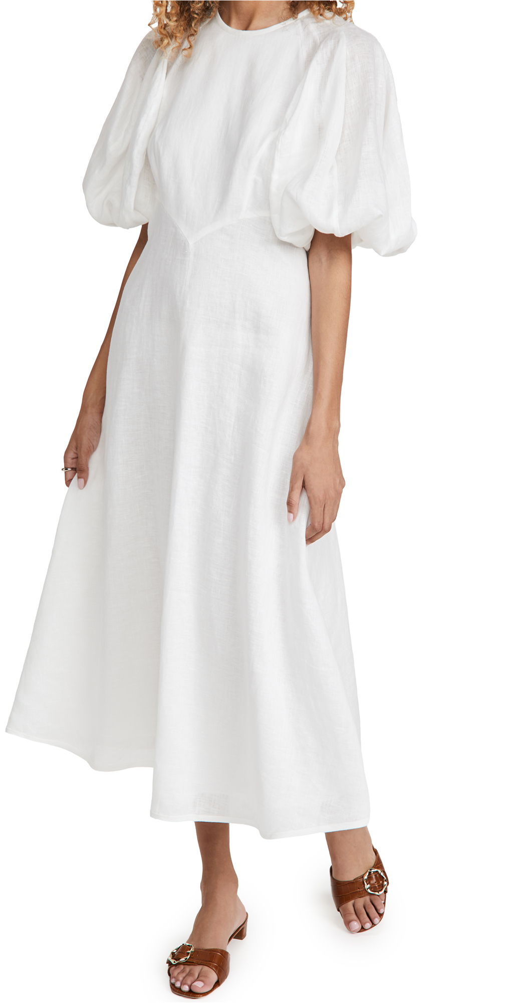 Zimmermann Linen Day Midi Dress