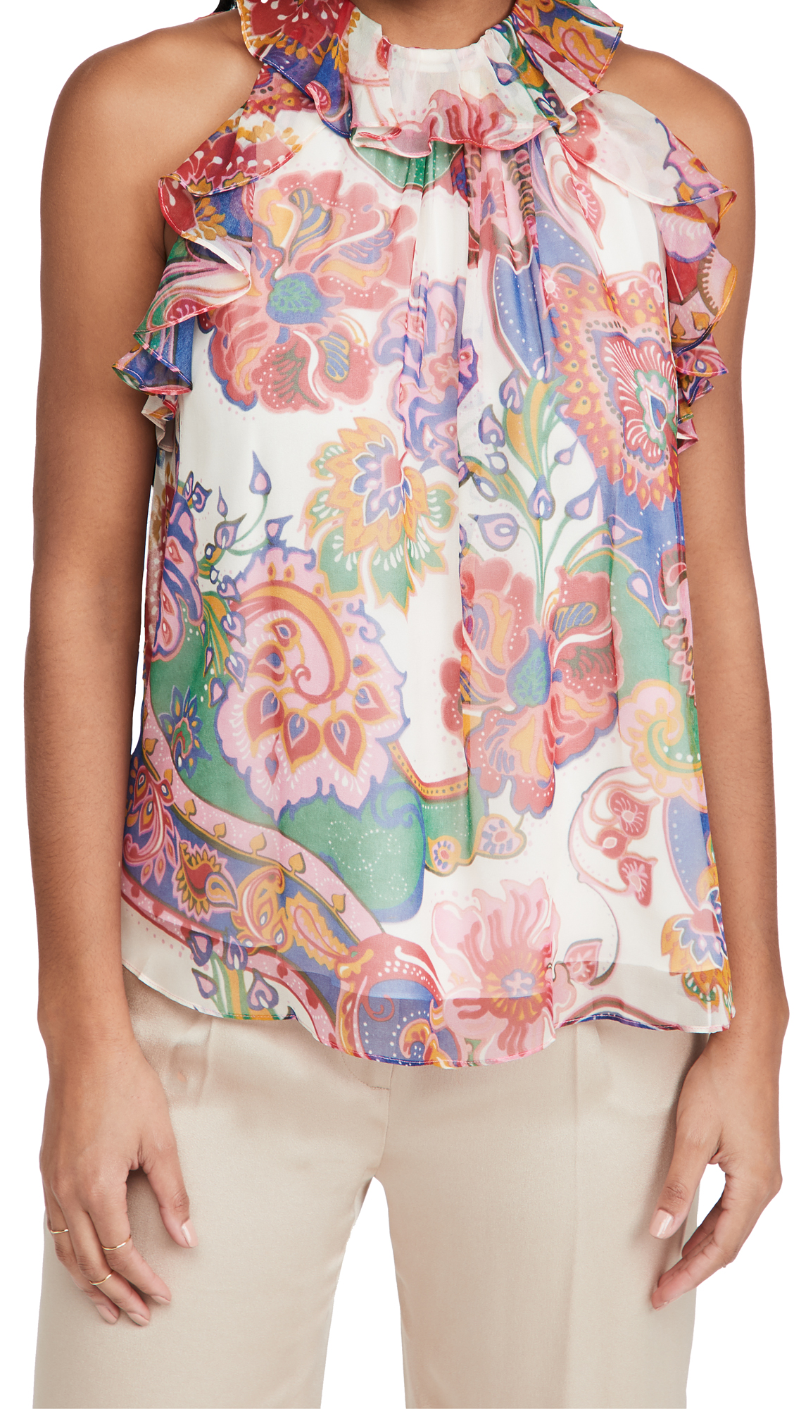 Zimmermann The Lovestruck Chiffon Tank