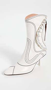 Zimmermann Ruffle Patchwork Booties