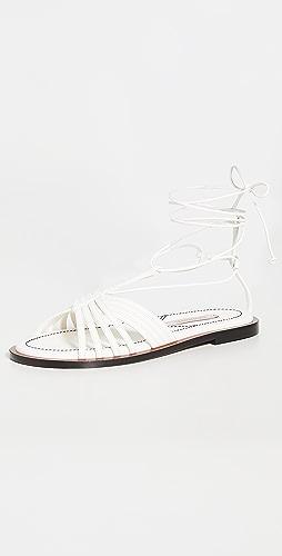 Zimmermann - Cross Over Strappy Sandals