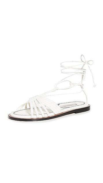 Zimmermann Cross Over Strappy Sandals