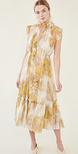 Zimmermann - Botanica Wattle Midi Dress