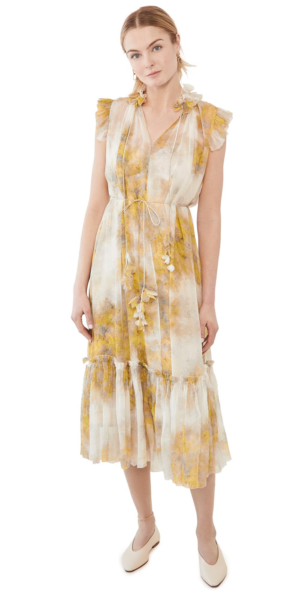 Zimmermann Botanica Wattle Midi Dress