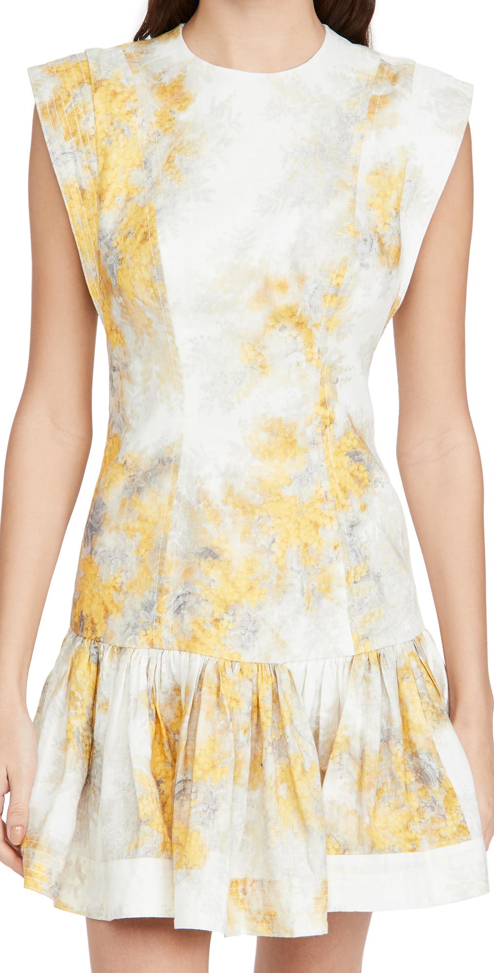 Zimmermann Botanica Flounce Short Dress