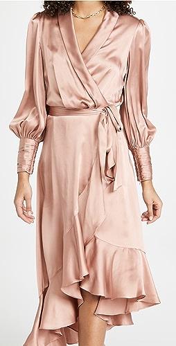 Zimmermann - 真丝裹身中长连衣裙