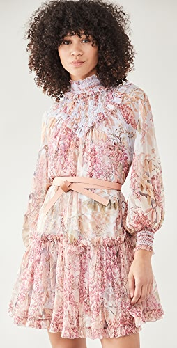 Zimmermann - Botanica Smocked Yoke Mini Dress