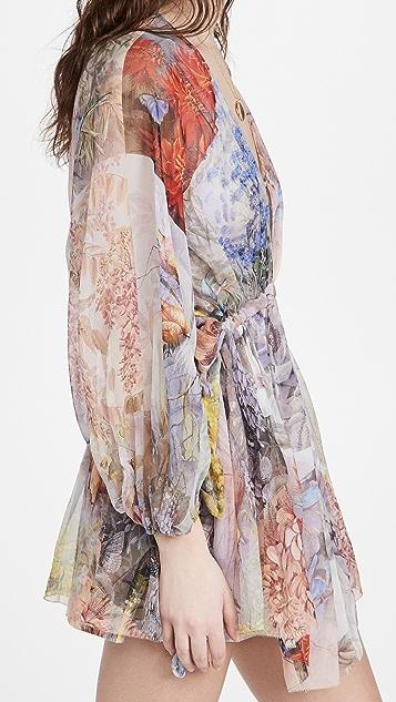 Zimmermann Luminous Tie Side Mini Dress