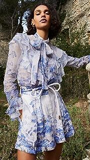 Zimmermann Luminous 荷叶边女式衬衫