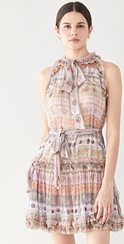 Zimmermann - Luminous Ribbon Swing Mini Dress