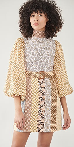 Zimmermann - Linen Spliced Mini Dress
