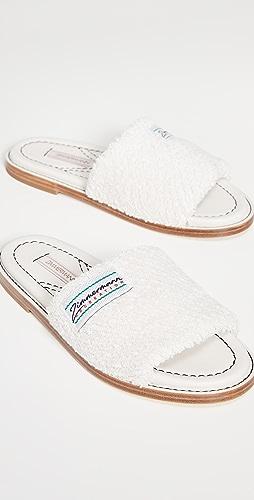 Zimmermann - Chubby 毛圈布凉拖鞋