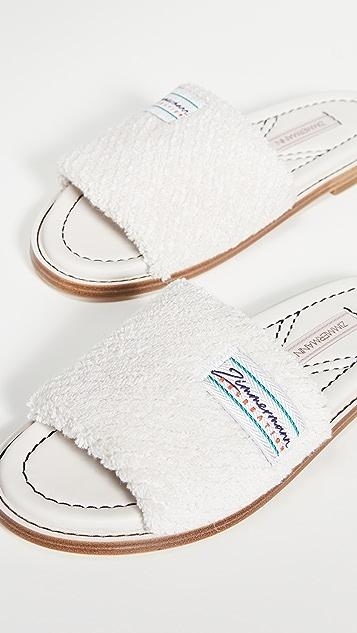 Zimmermann Chubby 毛圈布凉拖鞋