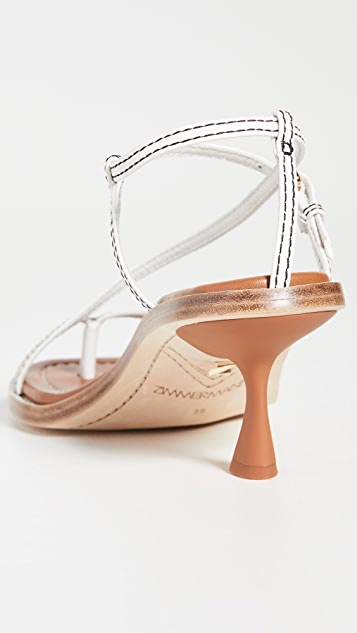 Zimmermann Skinny Strap Heeled Sandals