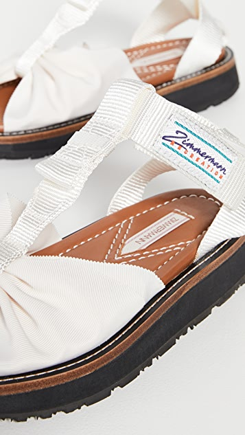 Zimmermann 正面蝴蝶结凉鞋
