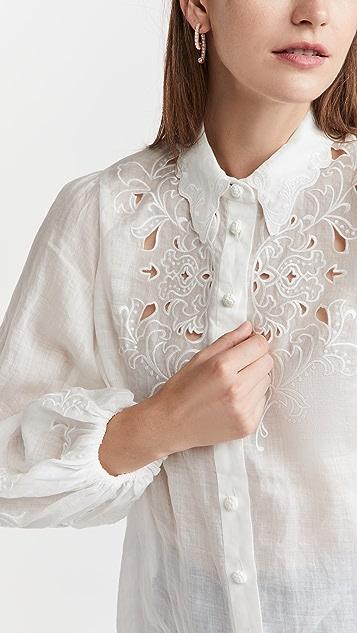 Zimmermann Nina Embroidered Shirt