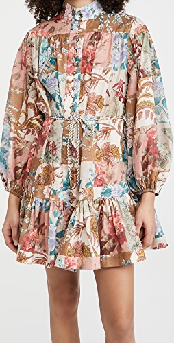 Zimmermann - Cassia Drop Waist Mini Dress