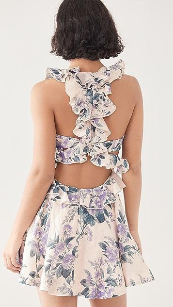 Zimmermann Cassia Ruffle Mini Dress