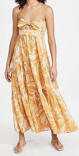 Zimmermann - Mae Tie Midi Dress