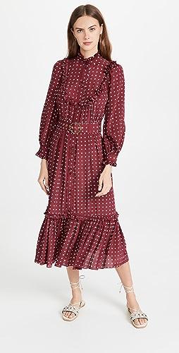 Zimmermann - 粘纤大摆中长连衣裙