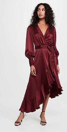 Zimmermann - Silk Wrap Midi Dress