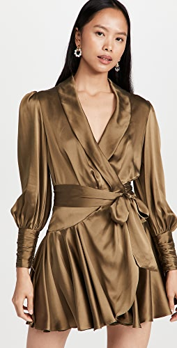 Zimmermann - 真丝围裹式迷你连衣裙