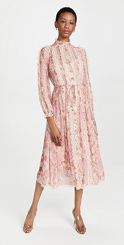 Zimmermann - Concert Pintucked Midi Dress