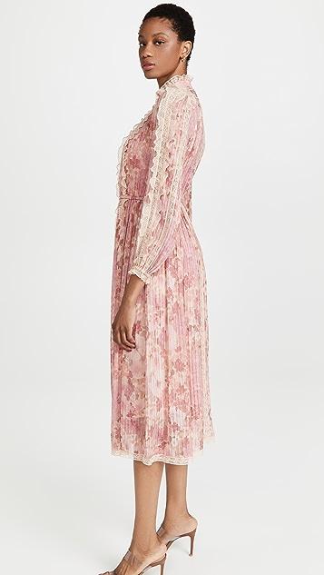 Zimmermann Concert Pintucked Midi Dress