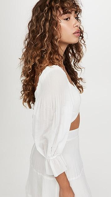 Zimmermann 裥褶衣身女式衬衫