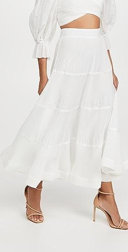Zimmermann - 褶皱中长裙