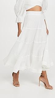Zimmermann 褶皱中长裙