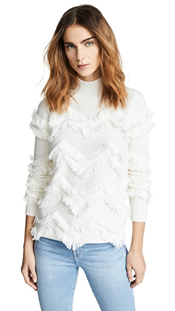 Zoe Jordan High Hawking Fringe Sweater